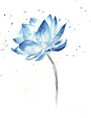 Painting - Blue Lotus by Andrea Realpe