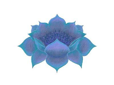 Digital Art - Blue Lotus by Elizabeth Lock