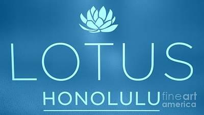 Blue Lotus Honolulu Art Print