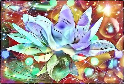 Digital Art - Blue Lotus  by Karen Buford