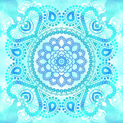 Painting - Blue Lotus Mandala by Tammy Wetzel