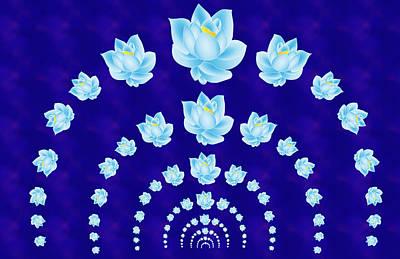 Blue Lotus Tunnel Art Print