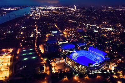 Photograph - Blue Lsu Tiger Stadium by Andy Crawford
