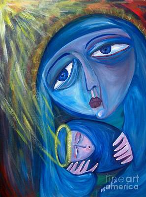 Painting - Blue Madonna by Michaela Kraemer