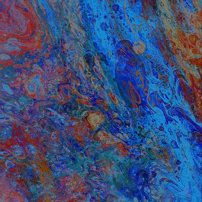 Mixed Media - Blue Madonna by Stephanie Grant