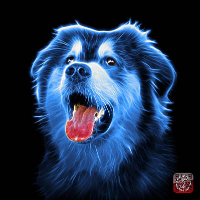 Painting - Blue Malamute Dog Art - 6536 - Bb by James Ahn