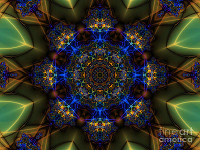 Digital Art - Blue Mandala by Kelly Holm