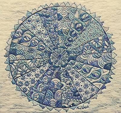 Digital Art - Blue Mandala by Megan Walsh