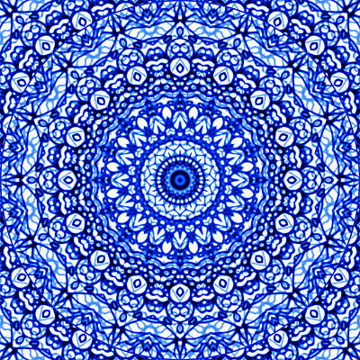 Blue Mandala Mehndi Style G403 Original