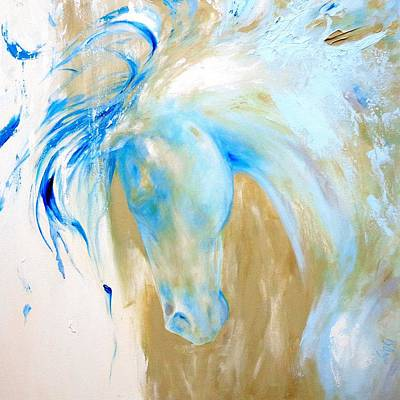 Painting - Blue Mane by Dina Dargo