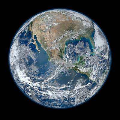 Globe Photograph - Blue Marble 2012 Planet Earth by Nikki Marie Smith