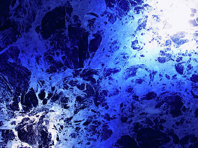 Photograph - Blue Marble Dream Abstract by John Williams