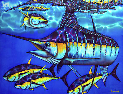 Painting - Blue Marlin Fish by Daniel Jean-Baptiste