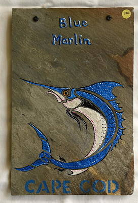 Painting - Blue Marlin by Jacqueline Del  Fonso
