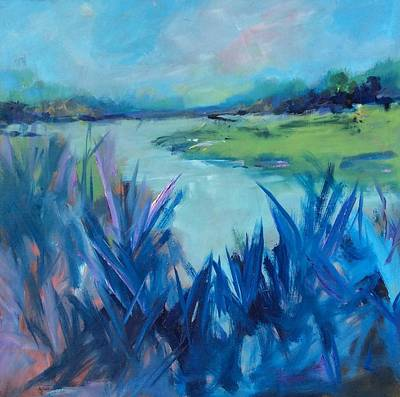 Painting - Blue Marsh by Karen Ann Patton