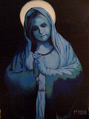 Blue Mary Art Print by Rebecca Poole