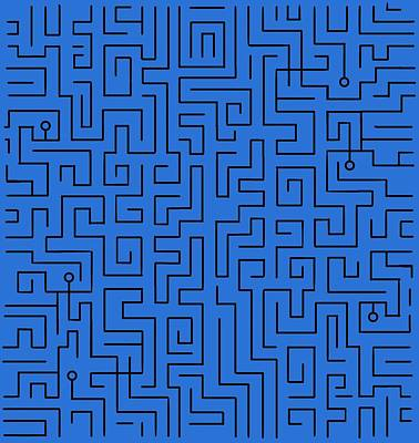 Photograph - Blue Maze by Pat Cook