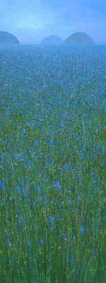 Painting - Blue Meadow 1 by Steve Mitchell