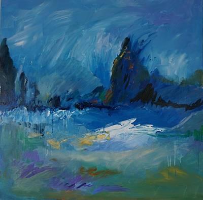 Painting - Blue Meadow by Jillian Goldberg
