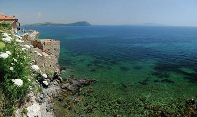 Tuscany Photograph - Blue Mediterranean Sea And Cliffs Of Talamone Italy by Reimar Gaertner