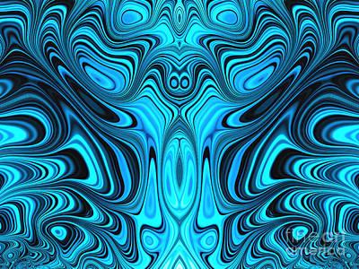 Fantasy Digital Art - Blue Mekon by John Edwards