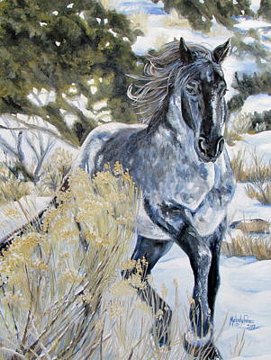 Melody Perez Painting - Blue by Melody Perez