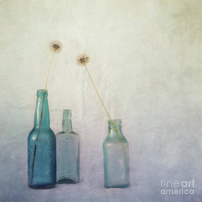 Medicine Bottles Photograph - Blue Memories by Priska Wettstein