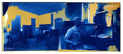 Digital Art - Blue Merge 1b-7.2017 by Doug Duffey