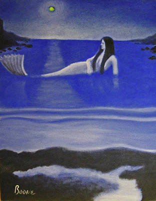 Painting - Blue Mermaid by Chris Boone