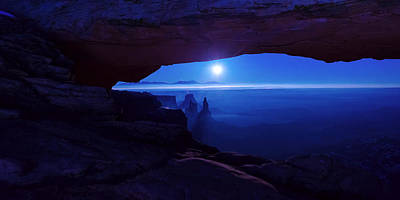 Arch Photograph - Blue Mesa Arch by Chad Dutson