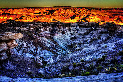 Photograph - Blue Mesa At Sunset by Roger Passman
