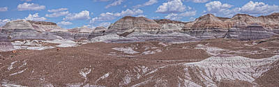 Blue Mesa At The Petrified Forest National Park Art Print by Jim Vallee