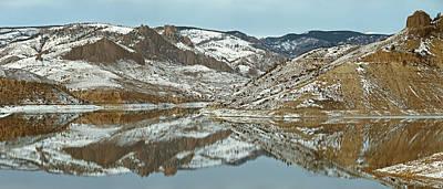 Blue Mesa Reservoir Photograph - Blue Mesa Lake Winter Panorama by Dusty Demerson