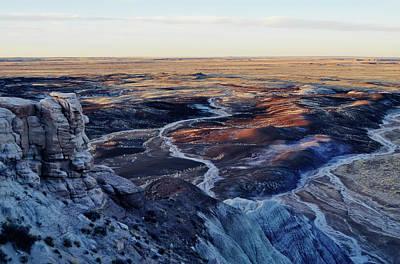 Blue Mesa Painted Desert Landscape Art Print by Kyle Hanson