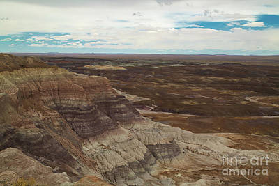 Photograph - Blue Mesa, Petrified Forest    8b9252l by Stephen Parker