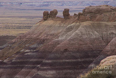 Photograph - Blue Mesa, Petrified Forest  A9226l by Stephen Parker