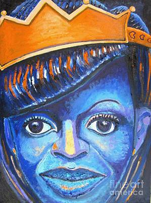 Michelle Obama Painting - Blue Michelle by Michael Owens