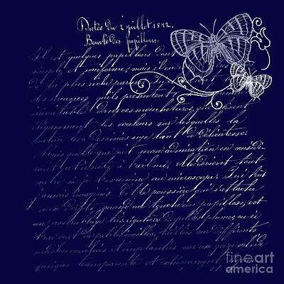 Photograph - Blue Midnight Butterfly by Sharon Mau