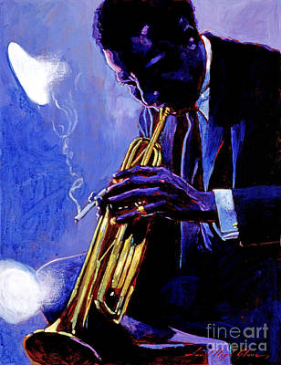 Music Painting - Blue Miles by David Lloyd Glover