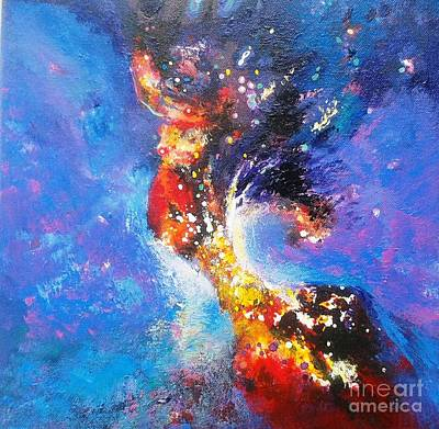 Painting - Blue Mirage by Sanjay Punekar