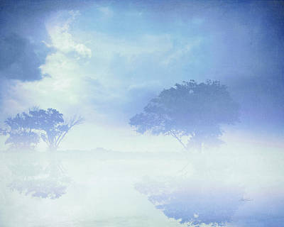 Photograph - Blue Mist Reflections by Ann Powell