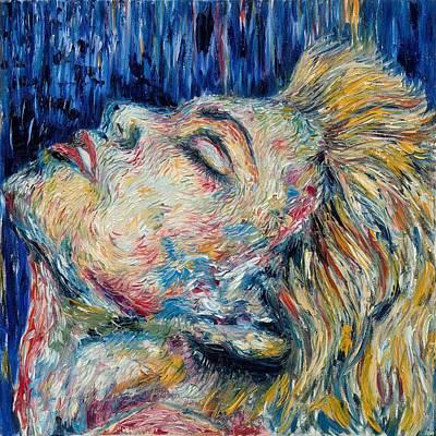Blue-mo Art Print by Joseph Lawrence Vasile