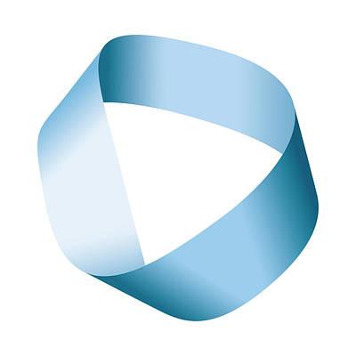 Mobius Strip Digital Art - Blue Moebius Strip Or Mobius Band by Peter Hermes Furian