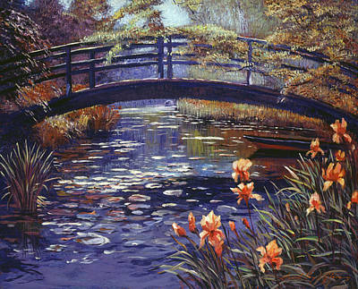 Impressionism Paintings - Blue Monet by David Lloyd Glover