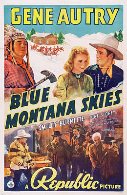 Mixed Media - Blue Montana Skies 1939 by Mountain Dreams