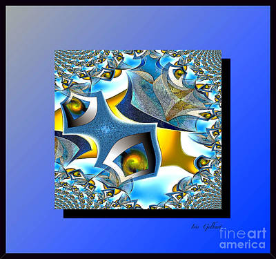 Digital Art - Blue Mood  #2 by Iris Gelbart
