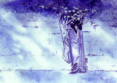 Moody Painting - Blue Mood by Ken Meyer jr