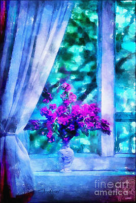 Blue Mood Art Print by Shirley Stalter