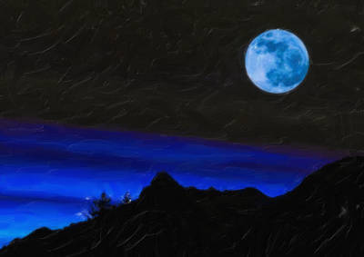 Painting - Blue Moon by Adam Asar