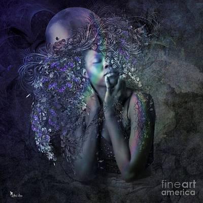 Digital Art - Blue Moon by Ali Oppy